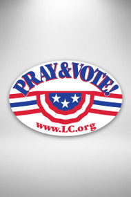 Pray & Vote  bumper sticker