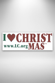 I Love CHRISTmas bumper sticker