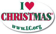 I Love CHRISTmas Vinyl Static Cling Window Decal