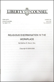 Religious Discrimination in the Workplace (pamphlet)