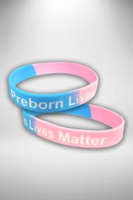 """""""Preborn Lives Matter"""" Wrist Band"""
