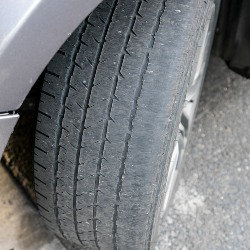 Microplastic pollution from worn vehicle tyres