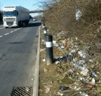Road Plastic Pollution from Litter