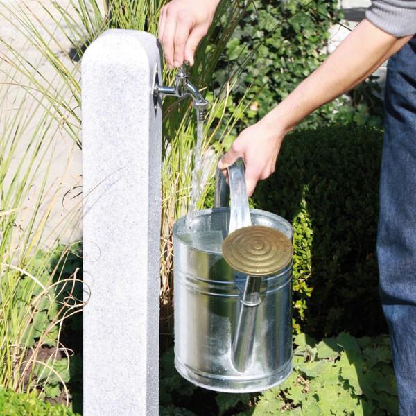 Light Granite effect Free Standing Garden Tap.
