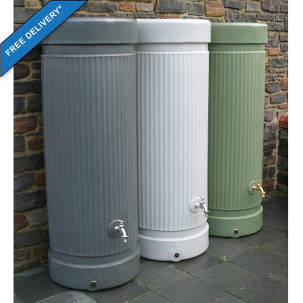 Column style Water Butt 300 Litres (middle light grey colour no longer available).