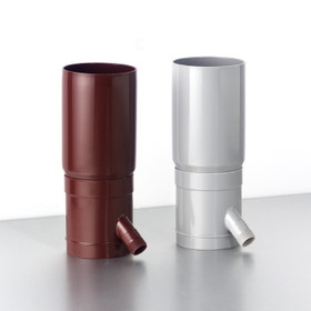 The Downpipe filter is available in two colours: Brown and Grey