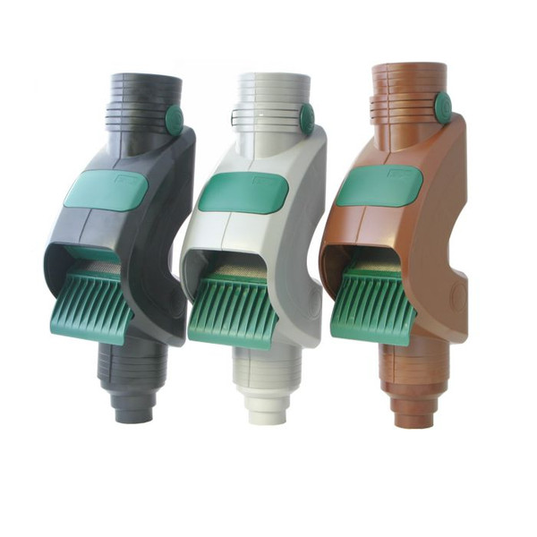 The 3P Rainus Downpipe Filter comes in three colours: Black, Grey and Brown to match the colour of your guttering.