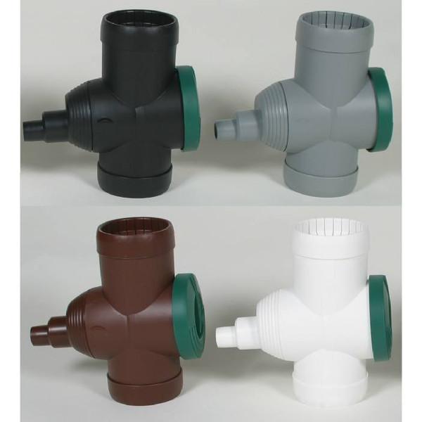 Colour Range of the optional Filter Diverter (Black, Grey, White, Brown).