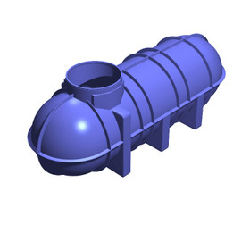 3400 Litre (748 Gallon) Underground Non-Potable Water Tank