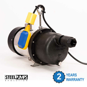 Submersible Steelpump with Float Swich. Pump comes with 2 years manufacturers guarantee.