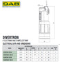 DAB Divertron Technical Data and Dimensions for 1000 and 1200 pumps.