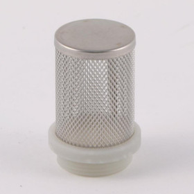 "Stainless Steel Mesh strainer/filter for Pump inlets. 1"" male thread shown here (other sizes available)."