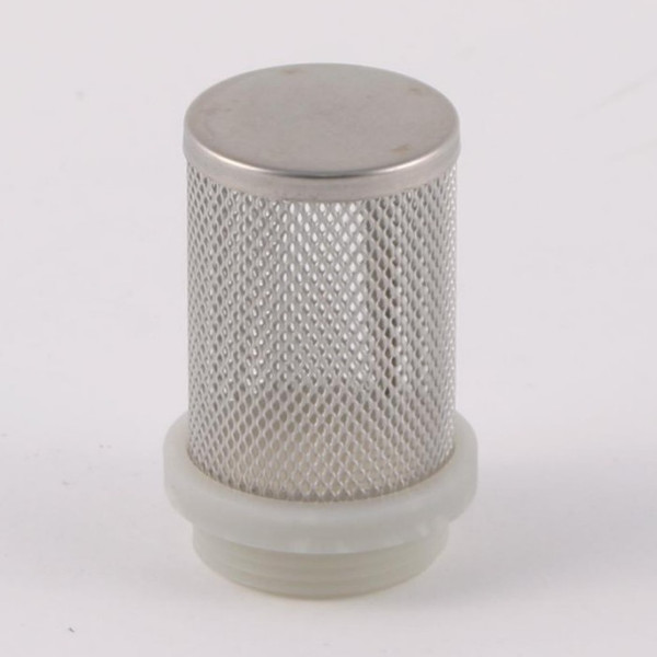 """Stainless Steel Mesh strainer/filter for Pump inlets. 1"""" male thread shown here (other sizes available)."""