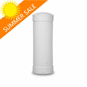 500 Litre Roman Column Style Water Butt is available in White - Summer Sale