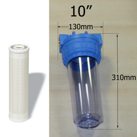 """Inline Water Filter Cartridge and Nylon 60 micron filter (10"""")"""