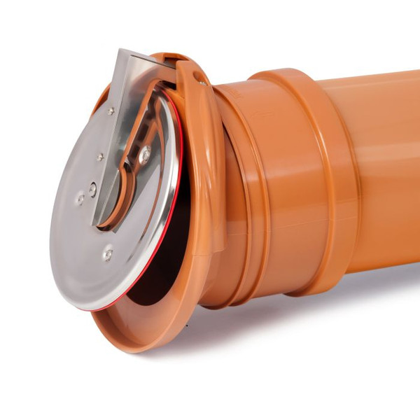 "Anti flood Flap Valves for drainage and soil pipes available in two sizes 4"" and 6"" (110mm, 160mm)"