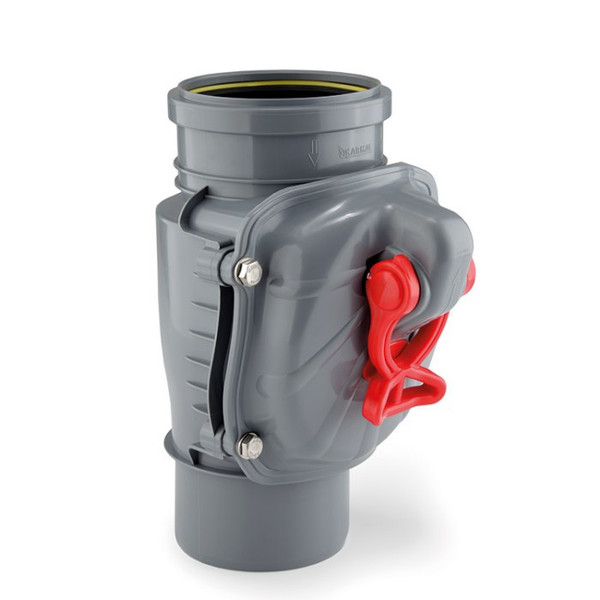 Inline Backflow Valve for Vertical Pipes