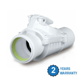 Inline Backflow Valve - Anti Flood Non Return Valve, 50mm