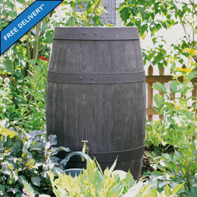 Oak Barrel Effect Water Butt 250L (also available in 500L).