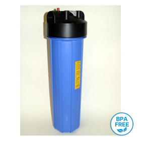 "20"" Big Blue Housing BPA Free (bisphenol A)."