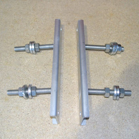 Twin Filter Brackets for mounting the 3P Technik Twin Filter to a Wall.