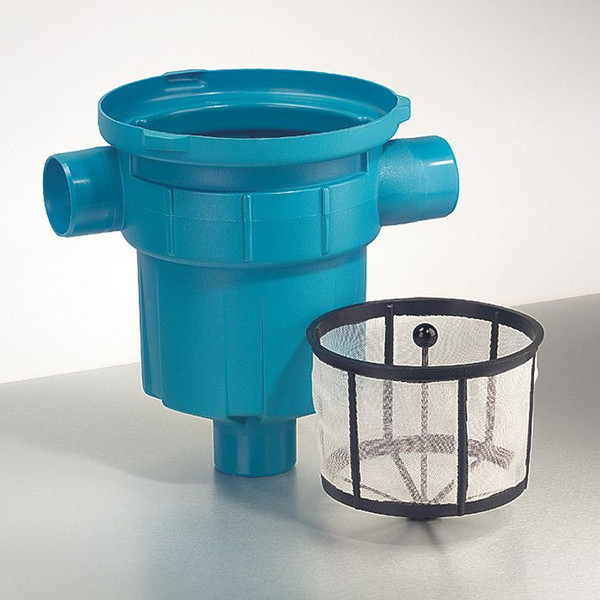 3P Garden filter with integrated polyethylene dirt retention basket for roof areas up to 200m2.