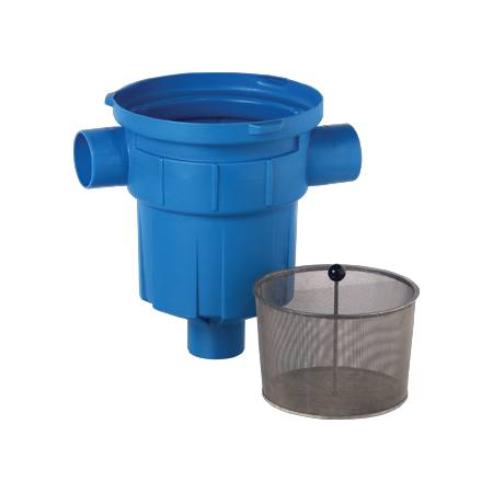 3P Retention Filter with integrated Stainless Steel dirt retention basket for roof areas up to 200m2.