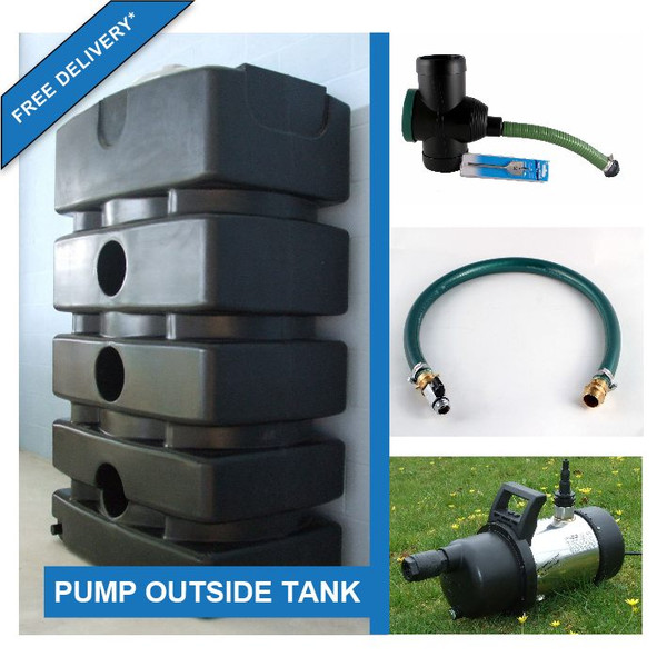 1500 Litre Water Storage Tank with External Pump Kit. Free Delivery