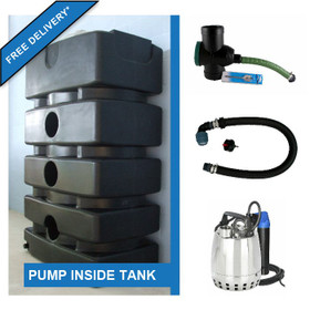 1500 Litre Water Storage Tank with Internal Pump Kit. Free Delivery