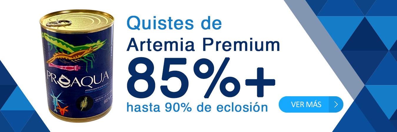 Quistes de artemia premium 85%+ hasta 90% de eclosión
