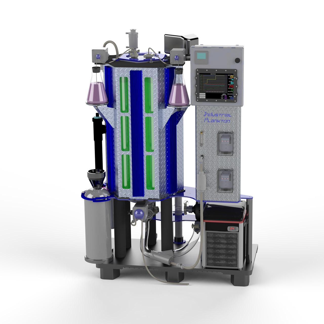 Bioreactor 100L cultivo de microalgas Industrial Plankton [Fotobioreactor PBR100L]