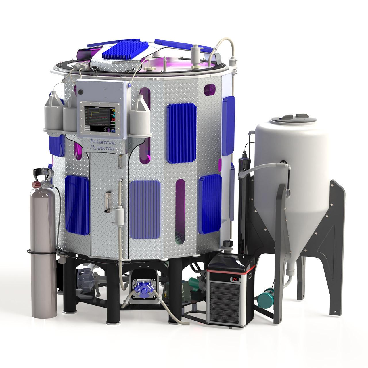 Bioreactor 1250L cultivo de microalgas Industrial Plankton [Fotobioreactor PBR1250L]