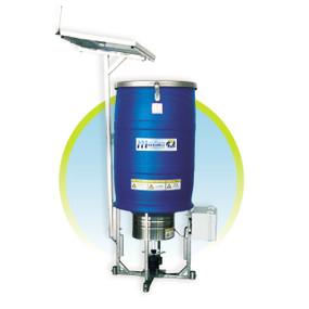 Alimentador solar automático por radio frecuencia RF 150kg HDPE Maof Madan