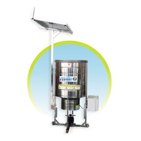 Alimentador solar automático por radio frecuencia RF 100kg acero inoxidable Maof Madan