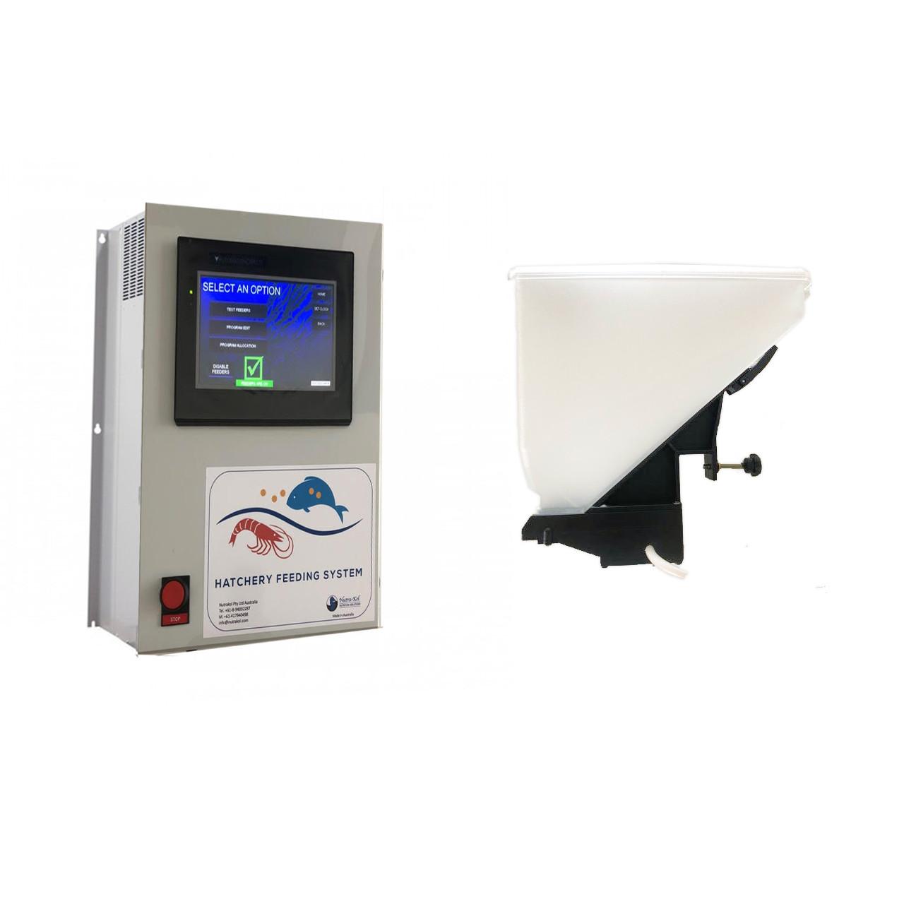 Alimentador automático para hatchery / laboratorio acuicola HFS