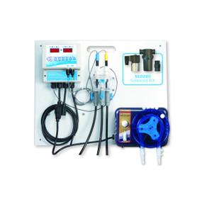 Sistema de todo en uno para monitoreo y control pH / ORP alimentado por erosión de para piscinas spas y jacuzzis ROLA-CHEM