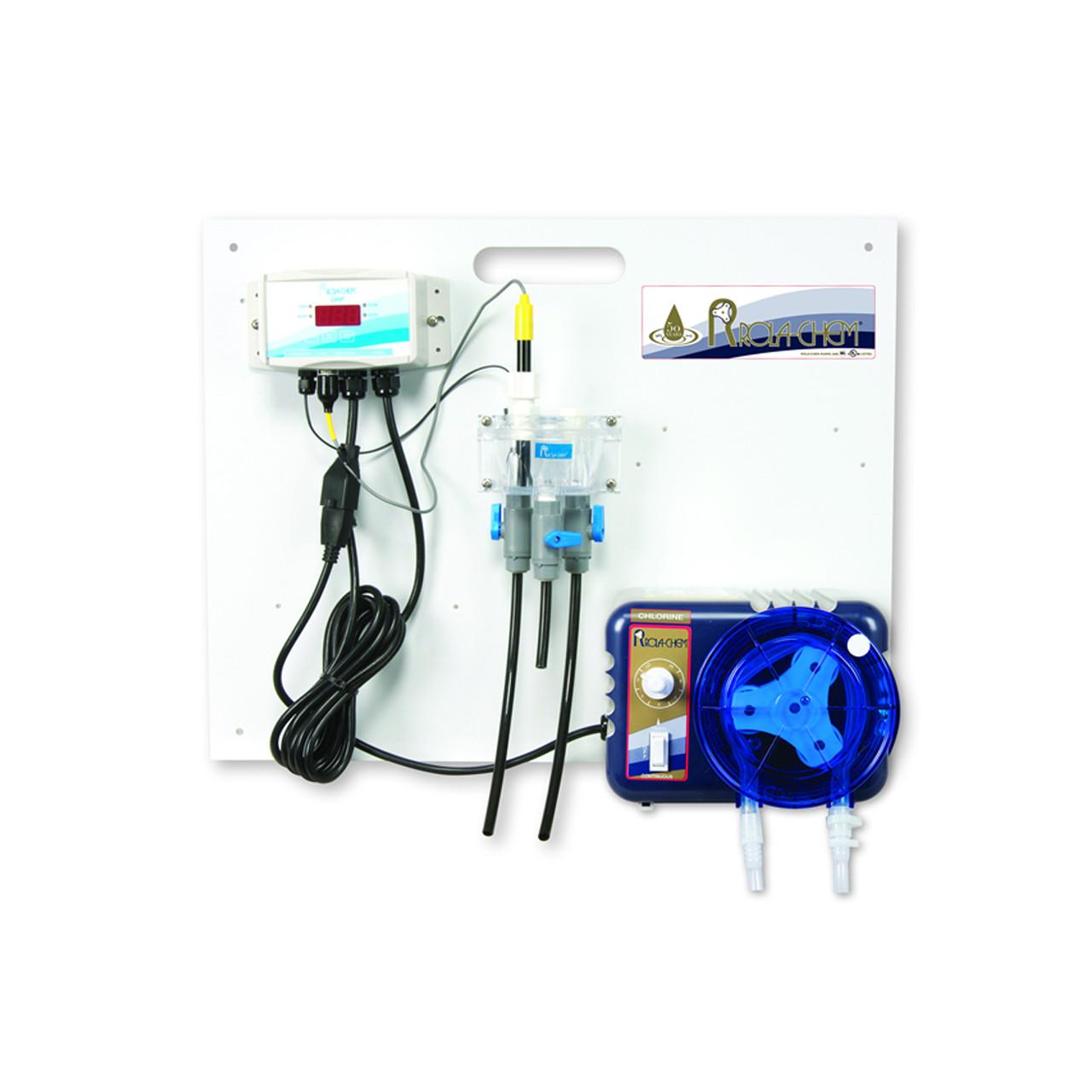 Sistema de todo en uno para monitoreo y control de ORP cloro líquido para piscinas spas y jacuzzis ROLA-CHEM