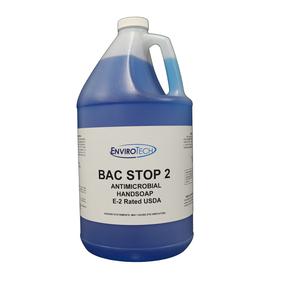 BAC STOP 2 jabón de manos antimicrobiano sanitizante categoría E2 de Envirotech