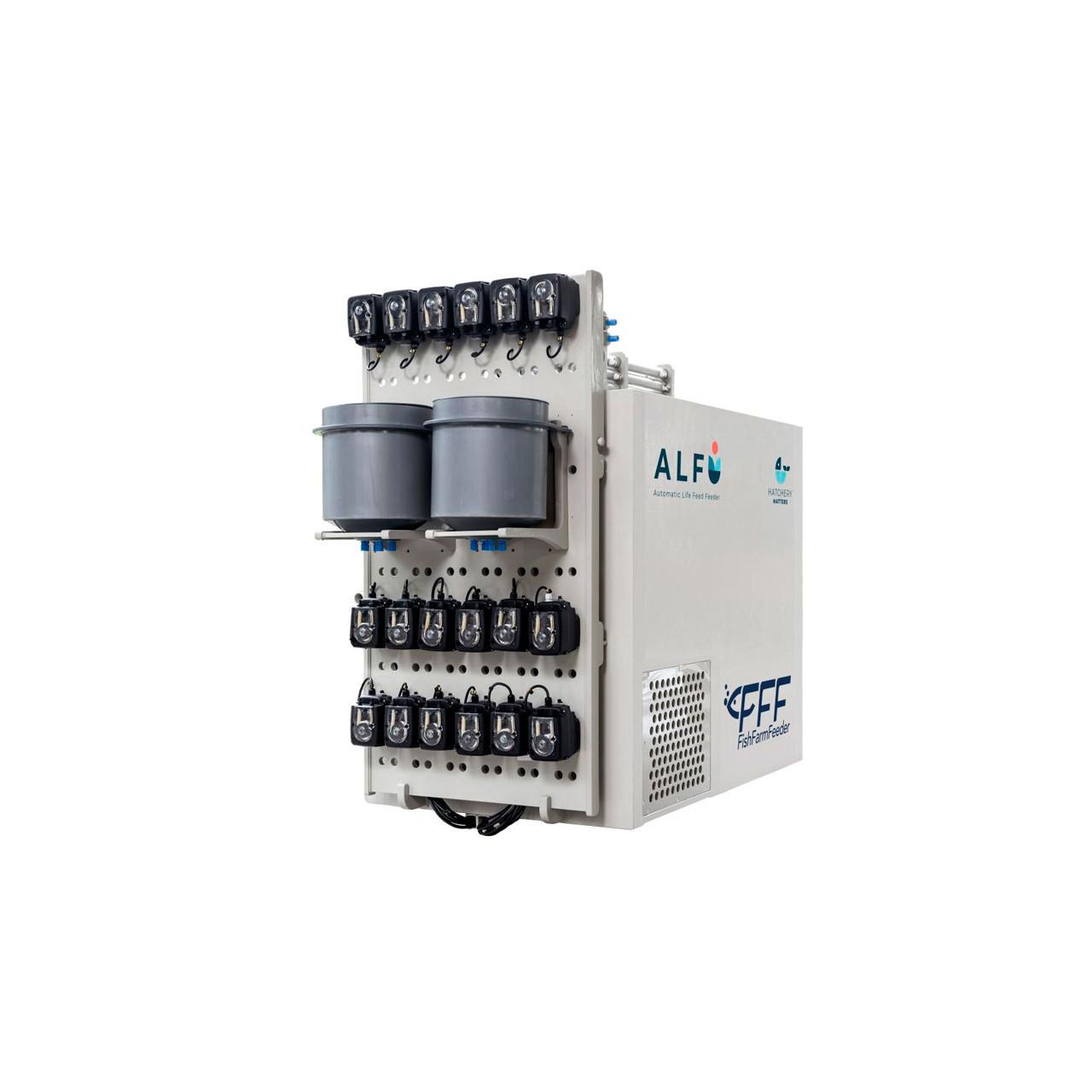 Sistema de alimentación automatizado para laboratorios, universidades, centros de investigación y pequeñas hatcheries pienso vivo FFF