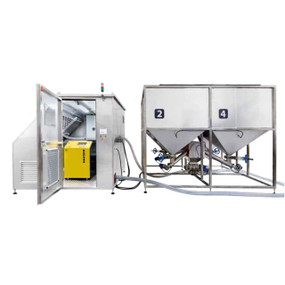 Sistema de alimentación automatizado para granjas acuícolas en tierra FFF