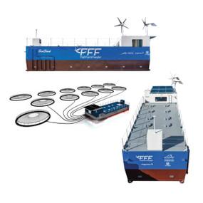 Sistema de alimentación automatizado para granjas acuícolas en mar y lagos FFF