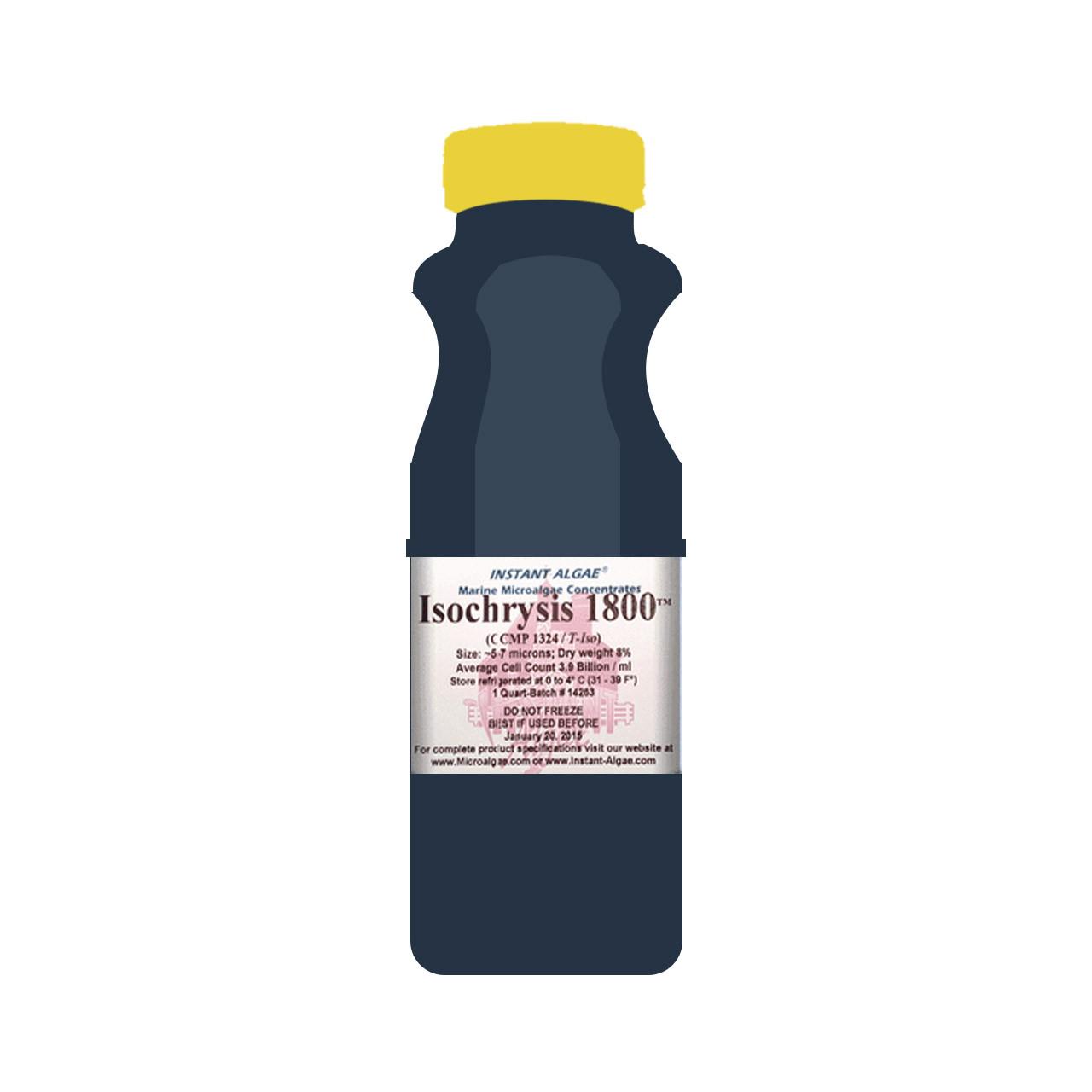 Isochrysis es un flagelado pequeño color oro / café (tamaño de célula:  4-7 µm) con contenido muy alto en DHA y comúnmente utilizado para enriquecer zooplankton como los rotíferos y artemia