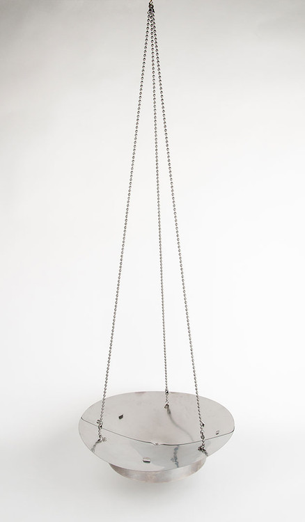 Littlbug Senior leave no trace fire bowl shown assembled with hanging chain set.