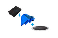 Trampoline Part Package Including Spring Cover, Safety Net, Jump Mat