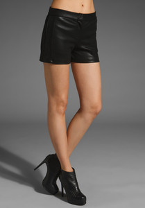 Krisa Faux Leather Short