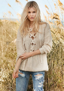 Elan Lace Up Sweater