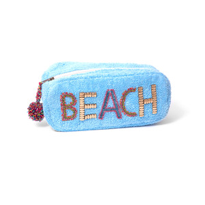 Ále By Alessandra Beach Baby Plush Cotton Terry Cloth Clutch/Bikini Bag