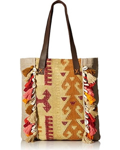 'ale by alessandra Beige Linen Jaipur Tote