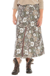 DA-NANG MAXI SKIRT FIRE FLOWER