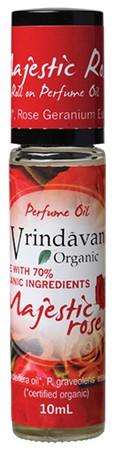Vrindavan Roll On Organic Perfume Oil - Majestic Rose